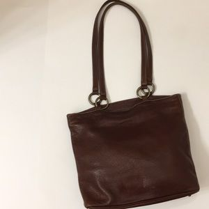 Roots brand all leather tote/purse